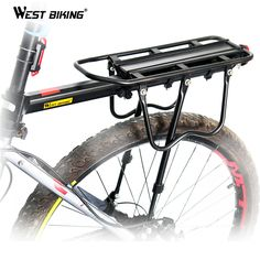Find More Bicycle Saddle Information about WEST BIKING Bicycle Racks Aluminum Alloy MTB Mountain Bikes Road Bike Rear Rack Luggage Carrier Cycling Racks for Bicycle Saddle,High Quality cycle rack,China cycling distance Suppliers, Cheap cycle odometer from Ledong Cycling on Aliexpress.com