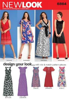 New Look Sewing Pattern 6864 Misses' Dresses, Size A (8-10-12-14-16-18) New Look https://www.amazon.ca/dp/B004RSU0MY/ref=cm_sw_r_pi_dp_ZZtaxbVMQMSE4