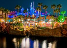 Mermaid Lagoon at night