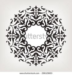 stock-vector-eight-pointed-circular-abstract-floral-pattern-mandala-round-vector-ornament-in-arabic-style-296129603.jpg (450×470)