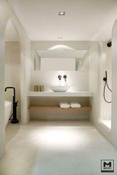 Apartment: A Stylish Apartment Designed with Black-White.- Apartment: A Stylish Apartment Designed with Black-White and Modern Interior Stylish Modern Bathroom Design 65 - Bad Inspiration, Bathroom Inspiration, Bathroom Ideas, Bathroom Taps, White Bathroom, Bathroom Furniture, Remodel Bathroom, Budget Bathroom, Bathroom Cabinets