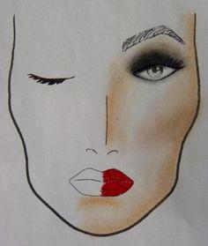 Face chart por las alumnas de #maquillaje de #Tevian. #beauty #belleza #makeup