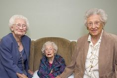 3 sisters, over 100 years old, reunited in Bristol. I hope this is us someday @Cassie McHale @Sally Knight @Cindy Dyal