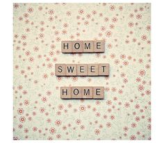 Letter tiles quote home sweet home quote by RetroLovePhotography