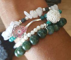 Ensemble 4 bracelets pierre semi-précieuses : Bracelet par vel