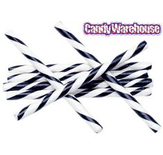 Black & White Peppermint Hard Candy Sticks: 100-Piece Box