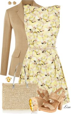 """Yellow OASIS Dress"" by lmm2nd on Polyvore"