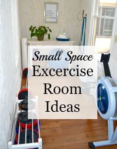 Small Space Exercise Room Ideas. If you workout at home, how do you organize your exercise equipment?