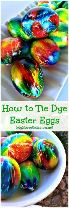 Say good-bye to dull, boring, washed-out Easter eggs, because this awesome technique on How to Tie Dye Easter Eggs will give your eggs intense colors with a high gloss sheen!