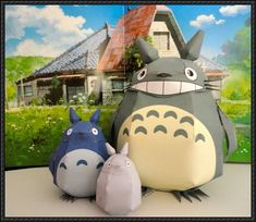3 Totoro Papercrafts Free Download