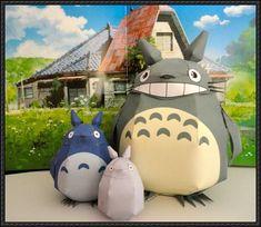 3 Totoro Papercrafts Free Download | PaperCraftSquare.com