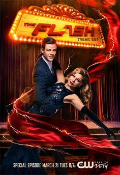 The Flash e Supergirl | Heróis dançam em pôster especial de episódio musical | Notícia | Omelete