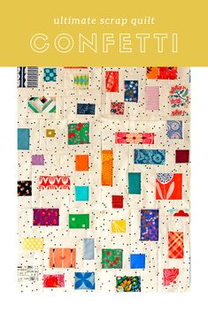 Make a Confetti Style quilt to rescue your favorite little fabric scraps from the trash bin. Patchwork Quilting, Scrappy Quilts, Easy Quilts, Small Quilts, Mini Quilts, Hand Quilting, Quilting Fabric, Creeper Minecraft, Quilting Projects