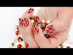 Royal Easter Nail Art for Short Nails: Faberge Eggs Inspired - YouTube