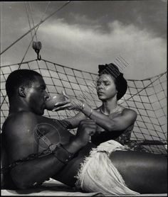 """Alex Cressan and Dorothy Dandridge in a scene from """"Tamango"""". Vintage Black Glamour, Vintage Beauty, Afro Punk Fashion, 1950s Fashion, Dorothy Dandridge, Black Actresses, Black Girl Aesthetic, Black Power, Women In History"""