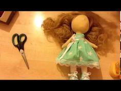 Мастер класс по созданию текстильной куклы. Часть 3 - YouTube