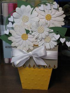 mothers day flower pot card