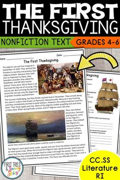 FREE Thanksgiving Reading Comprehension Passage - The First Thanksgiving Reading Comprehension Passages, Comprehension Questions, Speech And Language, Language Arts, Holiday Activities, Thanksgiving Activities, School Supplies For Teachers, 5th Grade Writing, First Thanksgiving