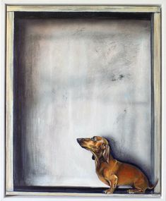 Excited to share the latest addition to my shop: Framed Dachshund painting on canvas by Victoria Coleman Black Dachshund, Dachshund Art, Dog Pencil Drawing, Cat Christmas Cards, Cat Cards, Dog Art, Bull Terrier, Pet Portraits, Art Prints