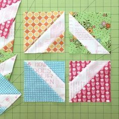 Bee In My Bonnet: my quilt block tutorials--From EACH of 4 different fabric prints