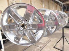 Wheel Restoration Powder Coated Chrome!
