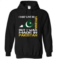 I May Live in Virginia But I Was Made in Pakistan - #workout tee #sweater dress. SIMILAR ITEMS => https://www.sunfrog.com/States/I-May-Live-in-Virginia-But-I-Was-Made-in-Pakistan-pirnisxowe-Black-Hoodie.html?68278