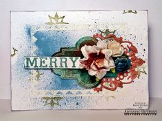 Mixed Media Card by Kate's Scrap Yard for Artistic Outpost Stamp sets: Christmas Chalk