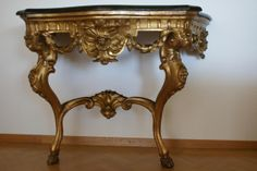 Beautiful #baroque #Italian #giltwood #console. #18th century. For sale on Proantic by Igra Lignum.