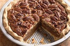 Pecan pie made with golden syrup instead of corn syrup