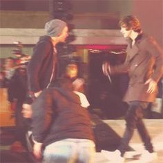 the epic bromance that is larry stylson. BROmance guys gif