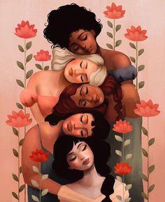 Art Sketches, Art Drawings, Bd Art, Feminist Art, Feminist Quotes, Illustration Artists, Illustrations, Aesthetic Art, Cartoon Art
