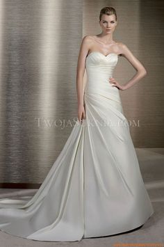 Wedding Gowns on Pinterest | Eve Of Milady, Satin Wedding Dresses and ...