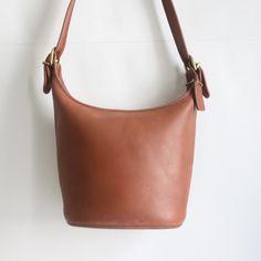 Vintage 60s Mid-Size COACH Bucket Purse Tote  Handbag