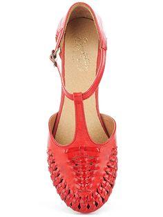 Seychelles Footwear; Cayenne leather flat in Red $70