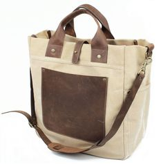 Workers N.Y. SoHo Bag, leather and canvas bag