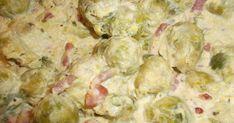 Zutaten 1 kg Rosenkohl 2 Zwiebel(n) 375 ml Wasser 75 g Speck 20 g Mehl Salz und Pfeffer Muskat 1 TL Aromat, oder Fondo...