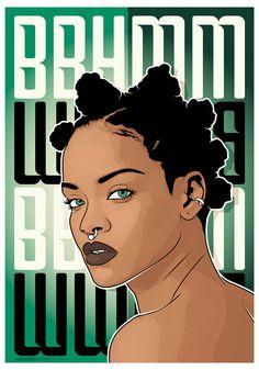Black Love Art, Black Girl Art, Art Girl, Small Canvas Paintings, Mini Canvas Art, Rihanna Drawing, Art Sketches, Art Drawings, Dessin Old School