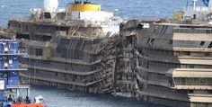 El naufragado #CostaConcordia será desmantelado