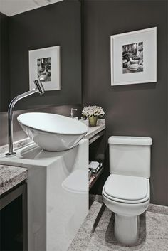 Beautiful Breathtaking Powder Room Design Ideas To Inspire You 17 Grey Bathrooms, Beautiful Bathrooms, Small Bathroom, Bathroom Ideas, House Shelves, Powder Room Design, Downstairs Toilet, Decoration Inspiration, Decor Ideas