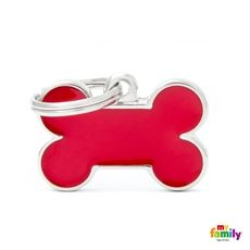 Show details for Small Bone Red Pet ID Tag Free engraving www.myfamily.it