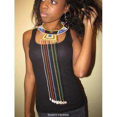 Collier Massaï et Afrique du Sud , Perles de rocailles perles multicolores , Perles d'Afrique ,  http://www.venustedafrique.com/bijoux/156-collier-massai-du-kenya.html