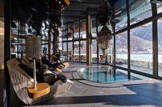 SUNKEN BATH IDEA  Six Star Luxury Boutique Chalet Zermatt Peak | HomeDSGN, a daily source for inspiration and fresh ideas on interior design and home decoration.
