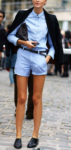 I need shorts like these - the whole look really - for summer