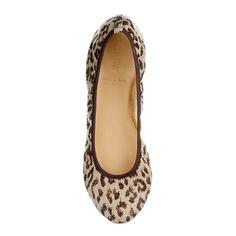 Leopard flats from Jcrew