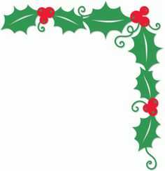 Silhouette Design Store: holly corner border. This is what I exactly need for my tablecloth.