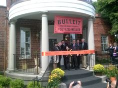 Ribbon-cutting ceremony at new Diageo Bulleit Frontier Whiskey Experience at the former Stitzel-Weller distillery, Kentucky. #bourbon