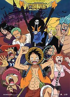 One Piece Wall Scroll - Strawhat Pirates Run!!