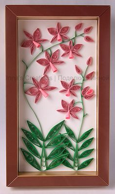 Orchid. Quilling by Inna's Creations, via Flickr
