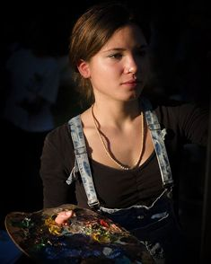 "Portrait Painter Thanks to beautiful Chantal. "" "" #portrait #portraitphotography #beautiful #beauty #mood #moodphotography #photoftheday #painter #leica #leicam240 #summicron50 #portraitwoman #chantalinvernizzi #shesbeautiful #vermeer"