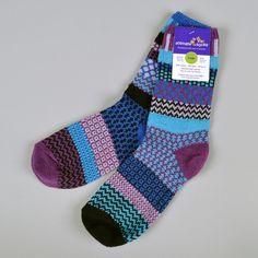"""Raspberry"" Recycled Cotton Socks"